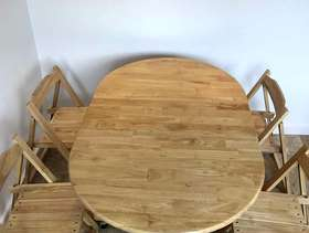 Freecycle Dining table and chairs