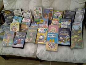 Freecycle 25 video tapes