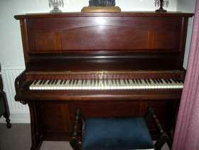 Freecycle Upright piano and stool