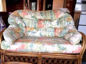 Freecycle Two seat cane settee