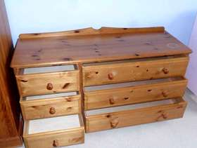 Freecycle Antique pine chest of draws